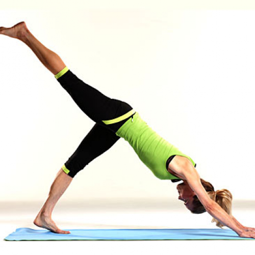 Downward Dog Split Pose